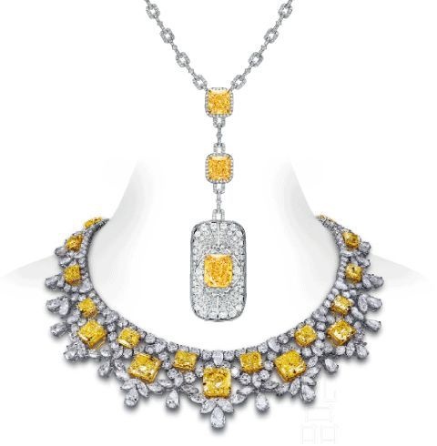 Tiffany yellow diamond necklace mozeypictures Image collections